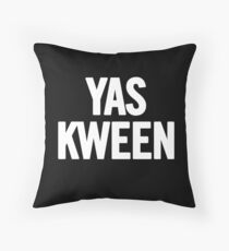 Yas Kween (White) T-Shirt iPhone Case Throw Pillow