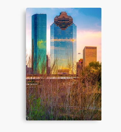 Downtown Houston Skyline Through the Trees Canvas Print