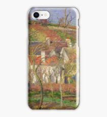 Camille Pissarro - The Red Roofs, Or Corner Of A Village, Winter iPhone Case/Skin