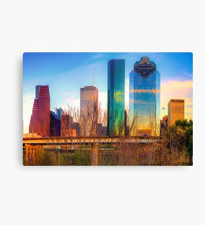 Houston Texas Skyline at Sunset Canvas Print