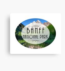 BANFF NATIONAL PARK ALBERTA CANADA Skiing Ski Mountain Mountains Snowboard Boating Hiking Canvas Print