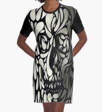 Deep Skull Graphic T-Shirt Dress