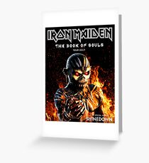MAIDEN IRON BOOK OF SOULS TOUR 2017 UK KENDALI Greeting Card
