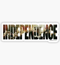 Independence Glossy Sticker