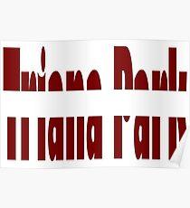 Triana Park - Line - Latvia - Eurovision 2017 Poster