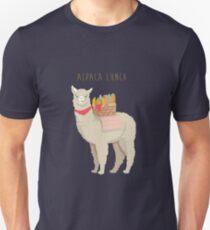 Alpaka-Mittagessen Slim Fit T-Shirt