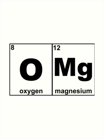 Omg awesome periodic table science chemistry oxygen magnesium omg awesome periodic table science chemistry oxygen magnesium tshirt urtaz Choice Image