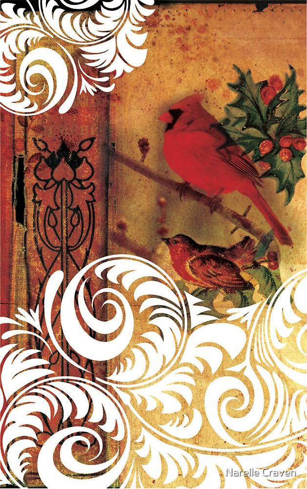 christmas birds 1 by Narelle Craven