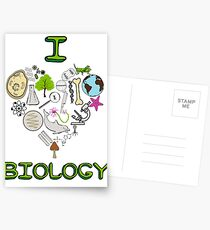 I love biology Postcards