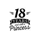 18 years and still a princess / birthday by Richard Eijkenbroek
