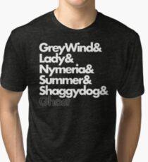Stark Direwolves Tri-blend T-Shirt