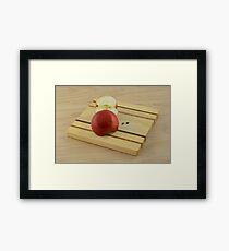 Red Delicious apple halves Framed Print