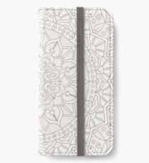 Gray Circle OF Life Mandala iPhone Wallet/Case/Skin