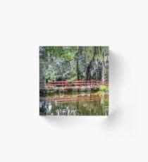 Magnolia Plantation Crossing Acrylic Block