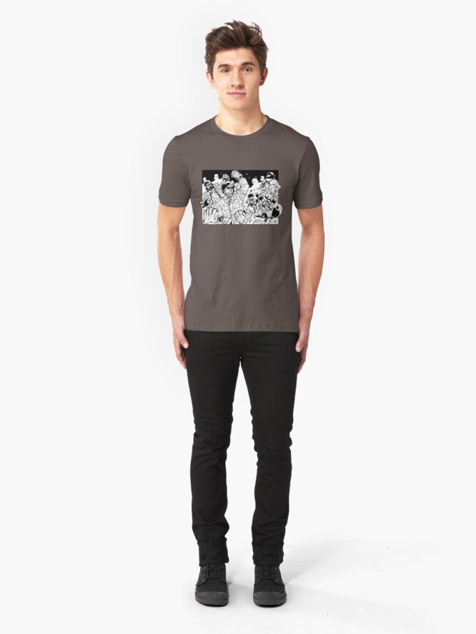 Alternate view of Lost Squad panel 01 Slim Fit T-Shirt
