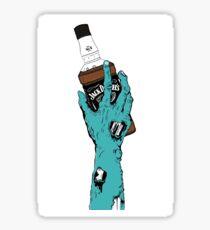 Zombie Jack Daniels Sticker