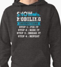 Funny Snowmobiling Instructions T-Shirt