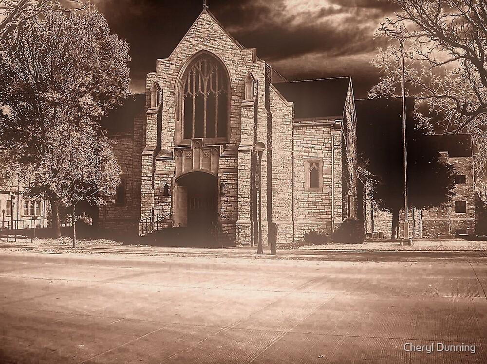 creepy church by Cheryl Dunning