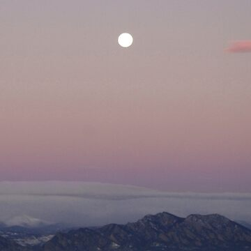 Morning Moon over the Rockies by BarbaraWilliams