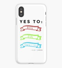 Love, Life, and Staying In More iPhone Case