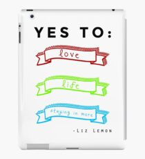 Love, Life, and Staying In More iPad Case/Skin