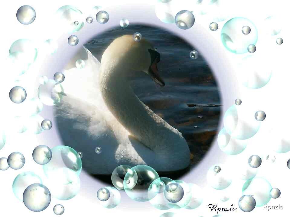 So Soft Swan with Bubbles by Rpnzle