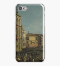 Canaletto - Venice - A Regatta On The Grand Canal iPhone Case/Skin