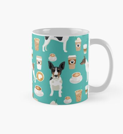 Rat Terrier coffee dog breed pet portrait dog pattern dog breeds gifts for dog lovers by PetFriendly Mug