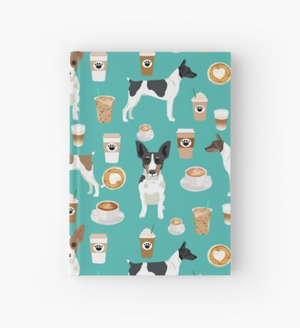 Rat Terrier coffee dog breed pet portrait dog pattern dog breeds gifts for dog lovers by PetFriendly Hardcover Journal