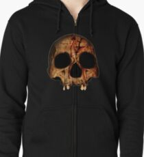 Bloody Skull Zipped Hoodie