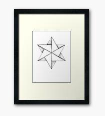 Paper Star Framed Print