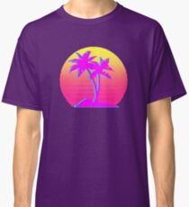 Retro Palm Trees with Sun Classic T-Shirt