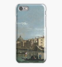 Canaletto - Venice - The Grand Canal Facing Santa Croce iPhone Case/Skin