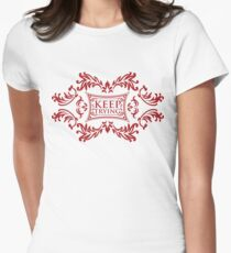 keep trying Women's Fitted T-Shirt