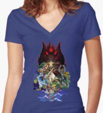 The Legend of Zelda Women's Fitted V-Neck T-Shirt