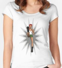 Trash girl Women's Fitted Scoop T-Shirt