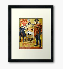 Akita Inu  - For a Few Dollars More Movie Poster Framed Print