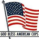 Weinlese-Gott segnen amerikanische Cops von hackeycard