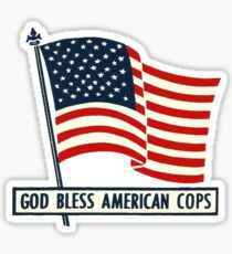 Vintage God Bless American Cops Sticker