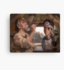 Karate Kid - Man who catch fly with chopstick accomplish anything Canvas Print