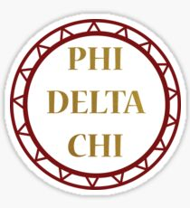 Phi Delta Chi Circle Sticker