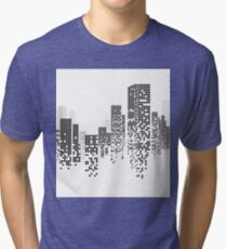 Building and City Illustration Tri-blend T-Shirt