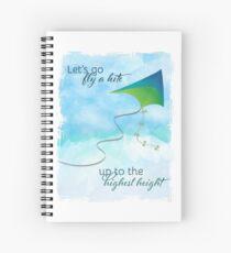 Cuaderno de espiral ¡Vayamos a volar una cometa! Inspirado por Mary Poppins