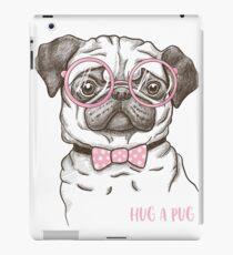 funny fashionable pug iPad Case/Skin