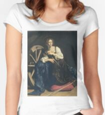 Caravaggio - Saint Catherine Of Alexandria Women's Fitted Scoop T-Shirt