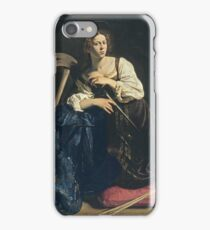 Caravaggio - Saint Catherine Of Alexandria iPhone Case/Skin