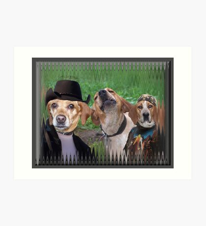 Dogs Are People Too! Art Print