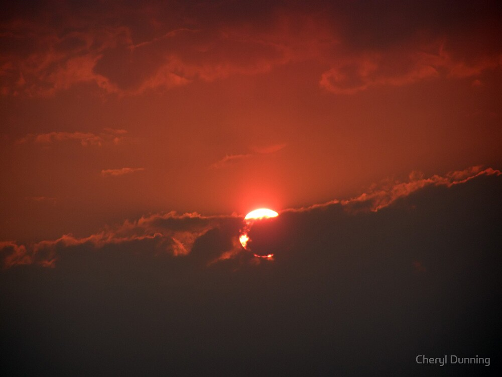 red sky by Cheryl Dunning