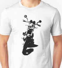 Motorcycle Silloutte  - Black T-Shirt