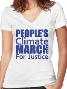 People's Climate Change March for Justice 2017 Women's Fitted V-Neck T-Shirt